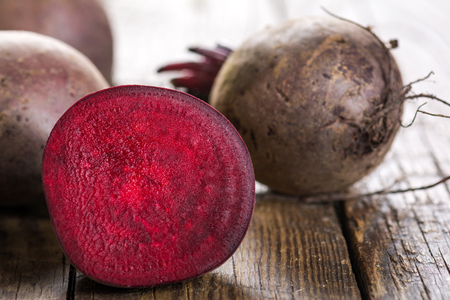 Beetroot on a wooden table