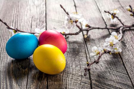 Colorful festive easter eggs Imagens