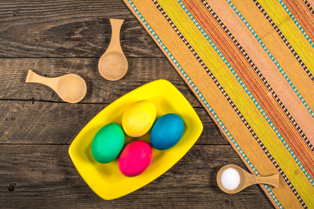 Colorful festive easter eggs