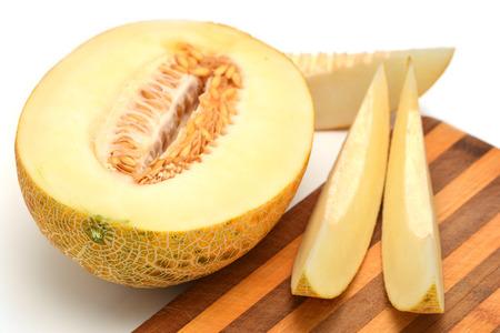 Sliced yellow melon