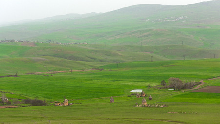 Ancient historical mausoleums complex of of the 16th century. District of Shemakhy city, Azerbaijan Imagens