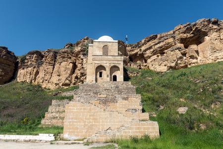 Ancient Diri Baba mausoleum,  14th century, Gobustan city, Azerbaijan