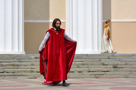Russia, Moscow, May 07, 2018.  Street theater