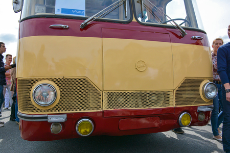 Russia, Moscow, May 17, 2017. Exhibition of old Moscow transport