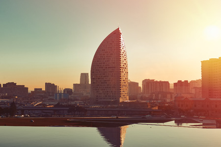 Baku, Azerbaijan, July 03, 2018.  Trump tower
