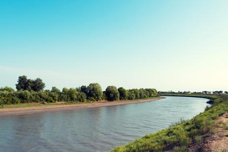 Plain calm river