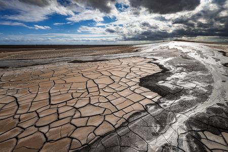 Mud volcano eruption, amazing natural phenomenon