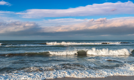 Waves on the storming sea