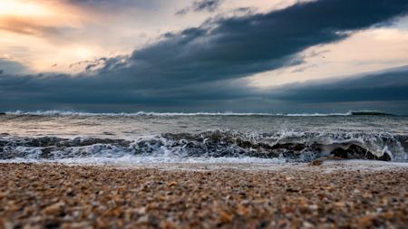 Seashore, stormy sea Фото со стока