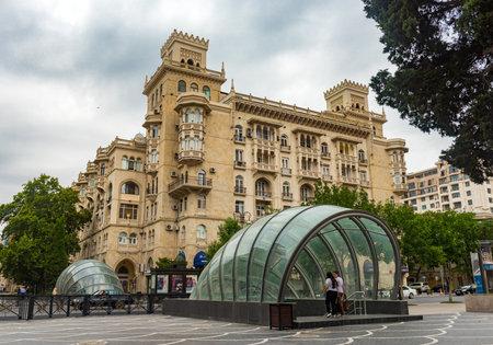 Baku/Azerbaijan - September 14, 2018. Glass Underpass Editorial