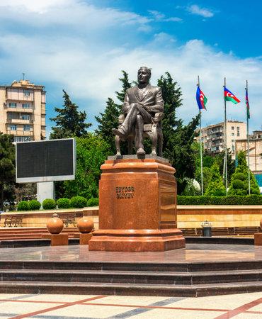 Baku, Azerbaijan March 31, 2019 Monument to Heydar Aliyev Editöryel