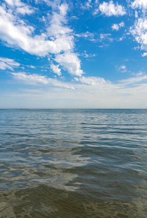 Water surface and horizon line