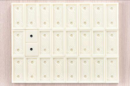 Vintage domino patterns background image