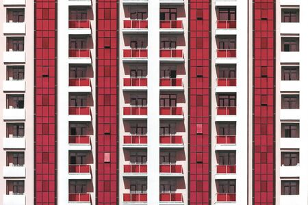 New high-rise apartment building background