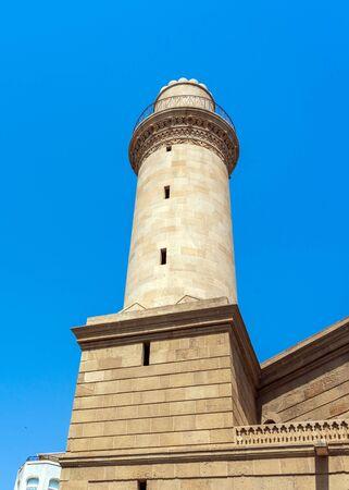 Minaret in Icheri Sheher, Baku city, Azerbaijan