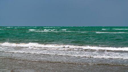 Sea coast in cloudy weather
