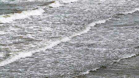 Waves on the sea beach 版權商用圖片