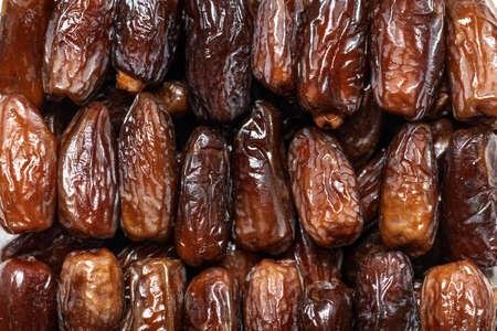 Dry sweet tunisian dates background