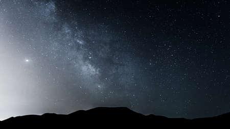 Milky Way in the night sky 版權商用圖片