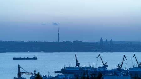 Evening over the Baku Bay