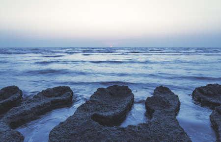 Daybreak on the seashore Standard-Bild