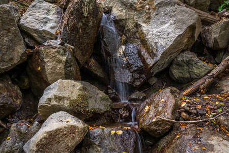 Small water stream in stones
