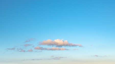 Beautiful cloud in the evening sky