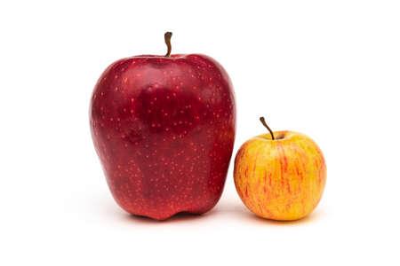 Big red apple on white background Standard-Bild