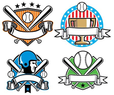 Baseball badge set Banco de Imagens - 18727066