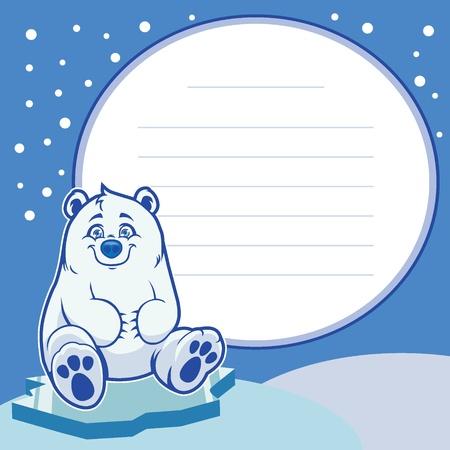 baby bear: happy baby polar bear  Illustration