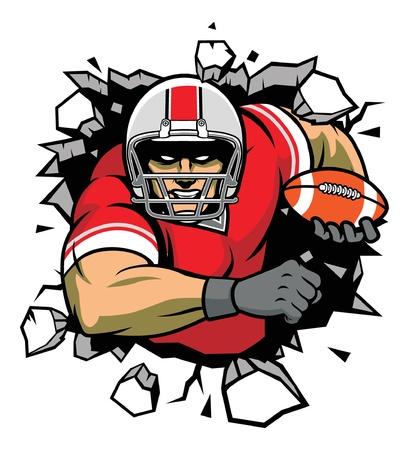 casco rojo: romper el muro Vectores