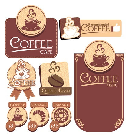 various of vector coffee label