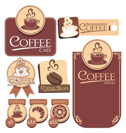 various of vector coffee label Banco de Imagens - 19867567