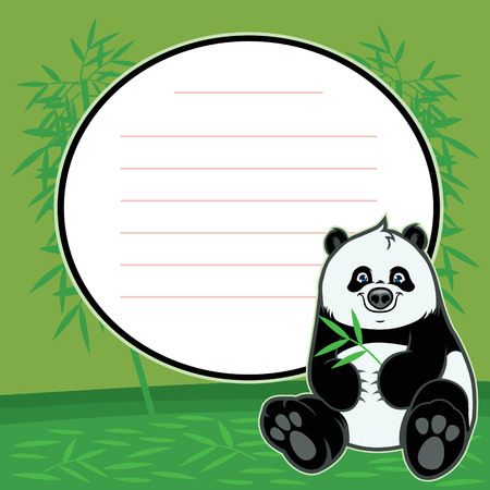 asian children: cute baby panda with copy space