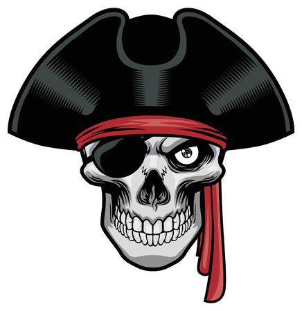 skull of pirate  イラスト・ベクター素材
