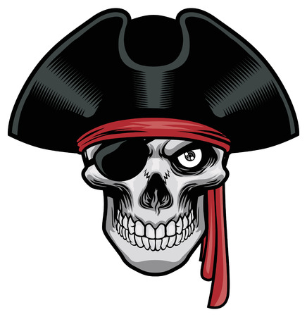 skull of pirate Vectores