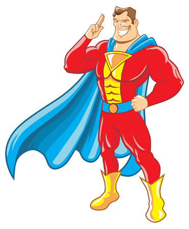 cape: superhero salute Illustration