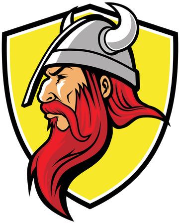head of a viking warrior Vector Illustration