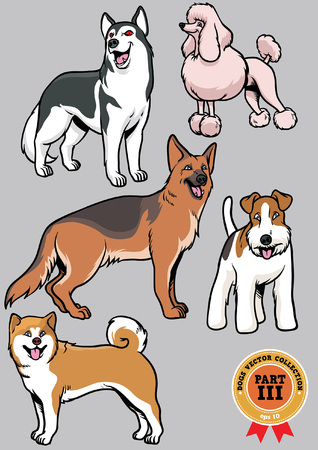 Dog collection part 3 Ilustrace