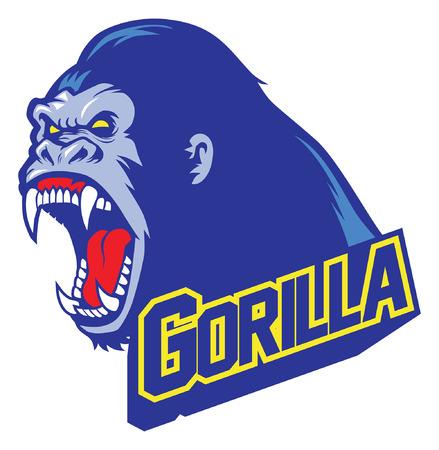 angry of gorilla mascot