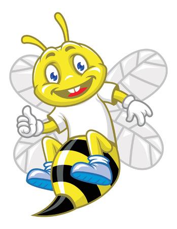 happy: happy bee