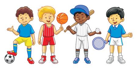 kids in varios sport gear