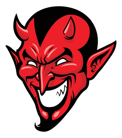 devil head Stock Illustratie