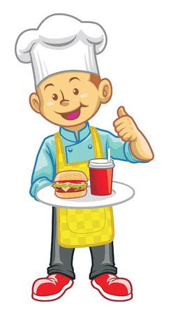 platter: little chef Illustration