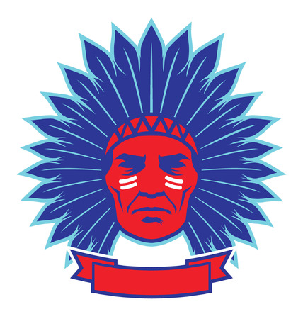 indian chief mascot: native american indian chief