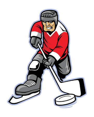 ice hockey player Ilustracja