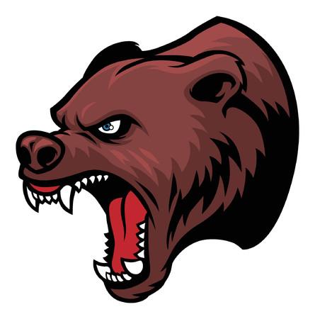 Verärgerter Kopf des Grizzlybären Standard-Bild - 91948899