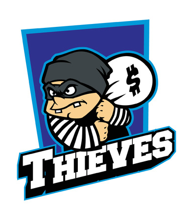 Mascot of cartoon thief