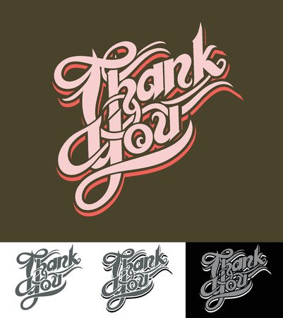Thank You lettering Ilustracja