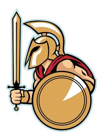 mascot of spartan mascot Vector illustration.